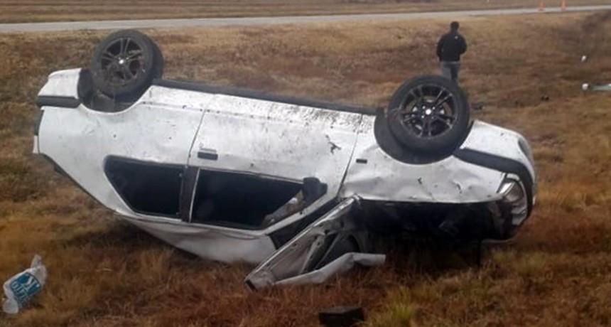 Concarán: accidente fatal; una persona falleció tras volcar con su vehículo en la Autopista 55