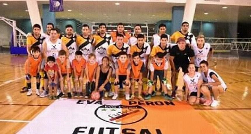 Eva Perón Futsal, chicos y grandes solidarios