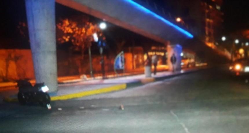 San Luis: una moto y un auto chocaron en Avenida Lafinue e Illia