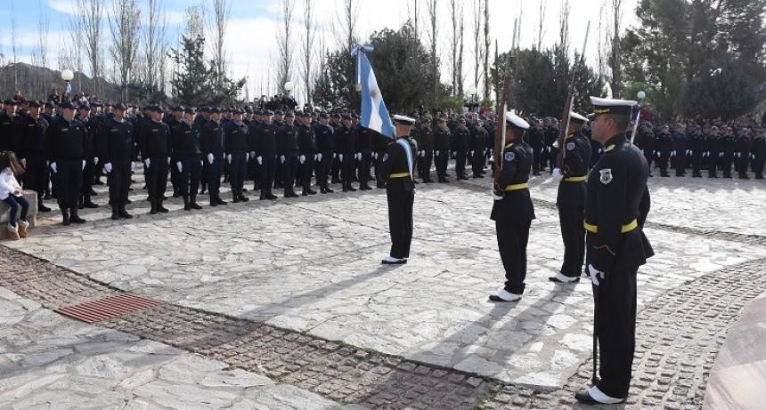 Estudiantes del Instituto Superior de Seguridad Pública juraron lealtad a la Bandera