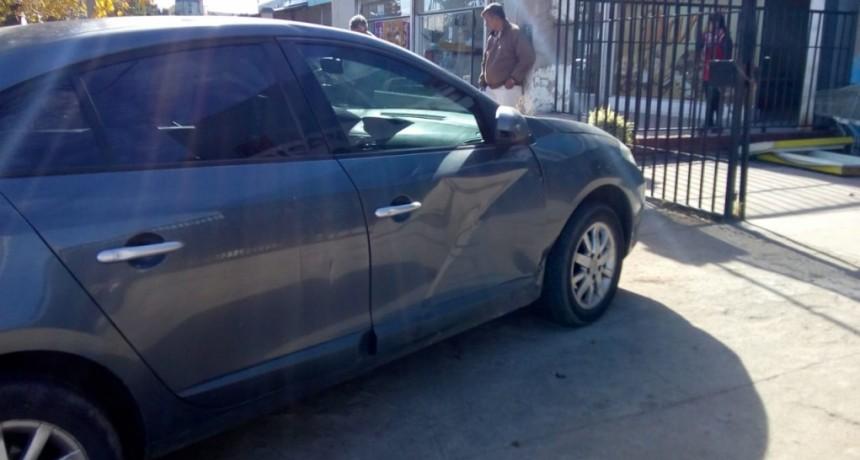San Luis: una moto y un auto chocaron frente al Aeropuerto
