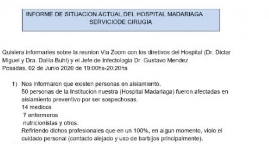 Misiones: 50 trabajadores del Madariaga aislados por sospecha de Covid-19