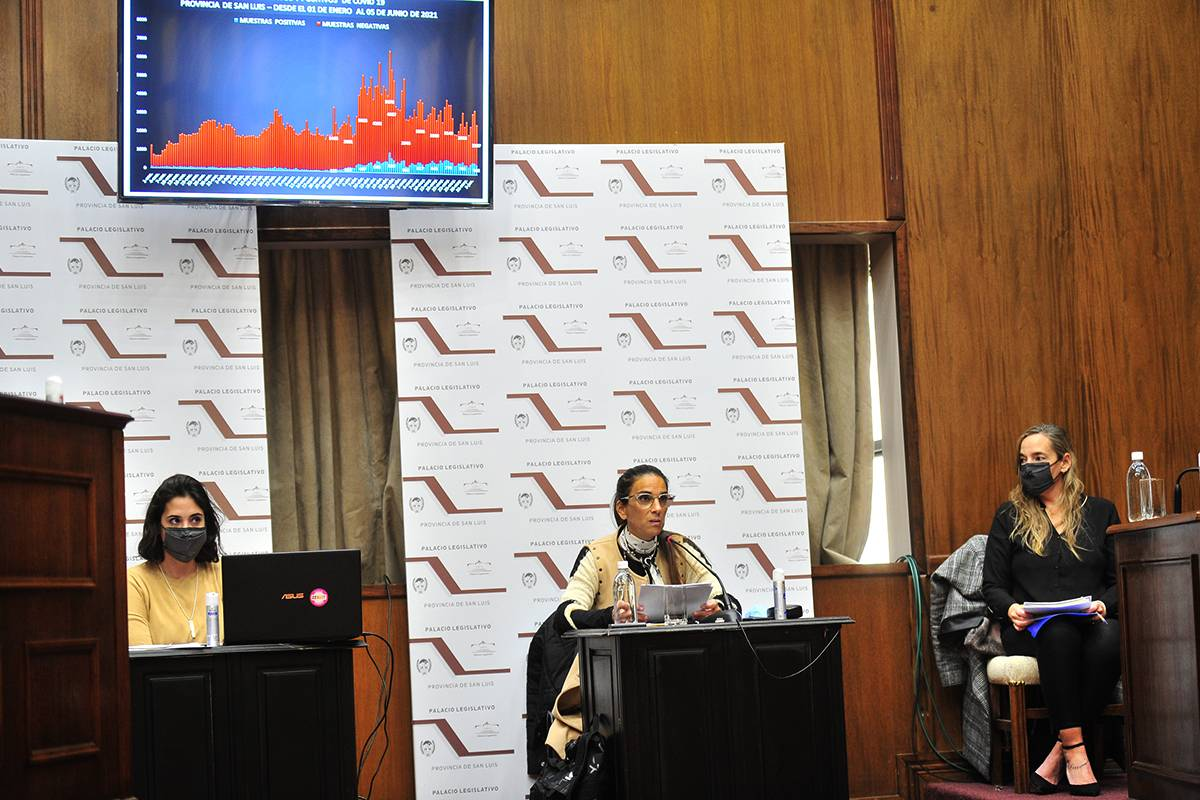 Mabel Leyes dio detalles del informe de gestión que brindó la  jefa de Gabinete de Ministros  en la Cámara de Senadores
