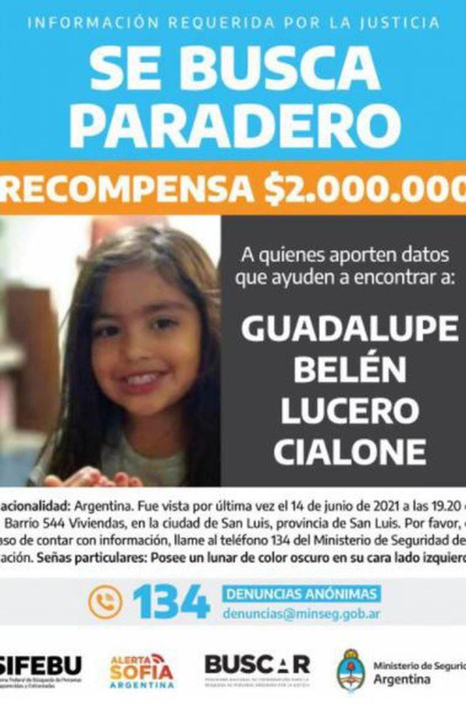 Búsqueda de Guadalupe Lucero: recompensa de 2 millones para quien brinde datos