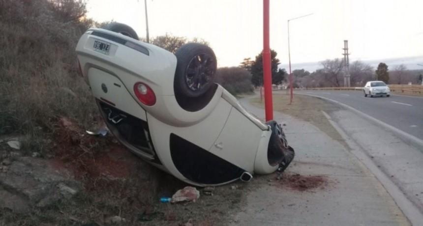 San Luis: un auto volcó en la Aguada