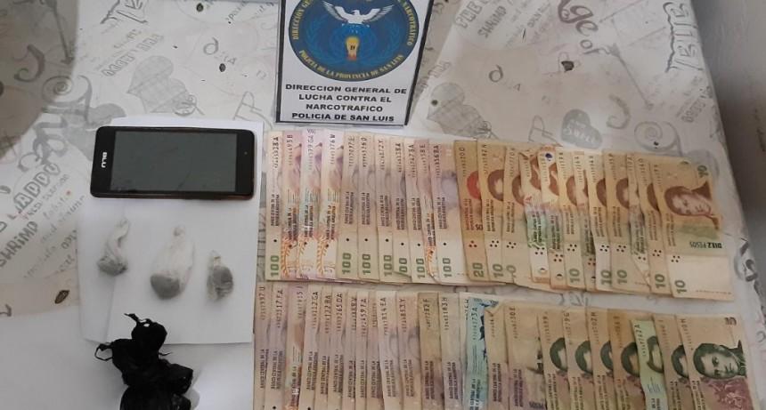 San Luis: tres mujeres y dos hombres fueron detenidos en tres allanamientos antidroga
