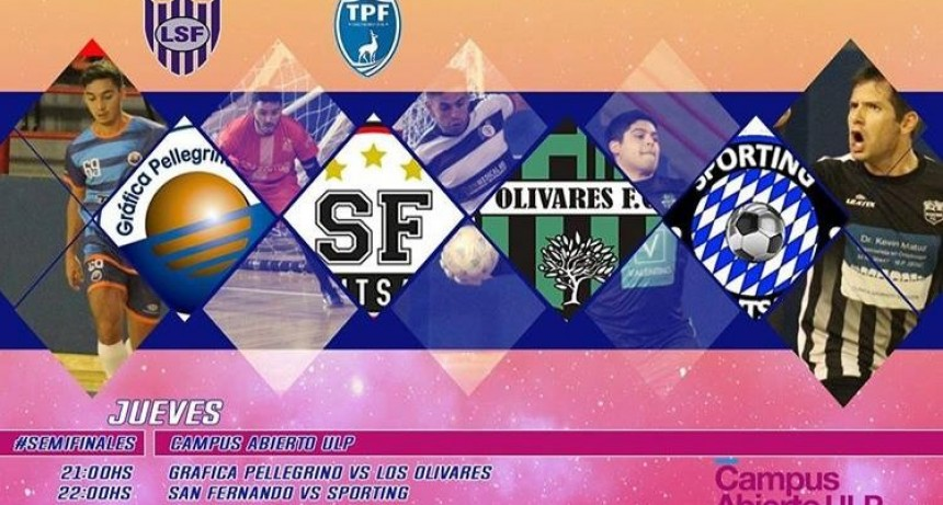 Esta noche se juegan las semifinales de los playoffs para definir al campeón del Torneo Apertura de Futsal