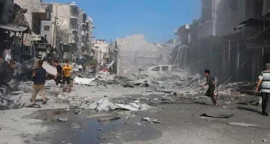 Rusia bombardeó mercado en Siria: 37 muertos