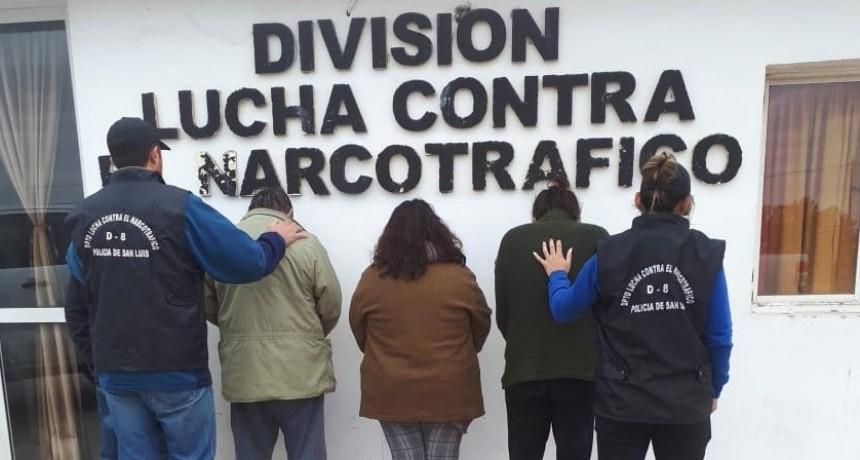 San Luis: dos hombres y dos mujeres fueron a prisión por regentear kioscos de droga