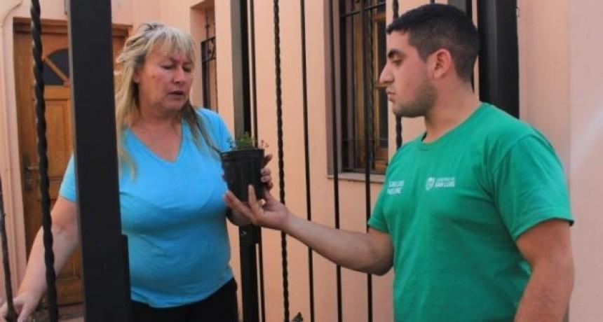"""""""Una Familia, Una Huerta"""": El Plan sigue recorriendo la ciudad capital y suma al barrio La Ribera de Villa Mercedes"""
