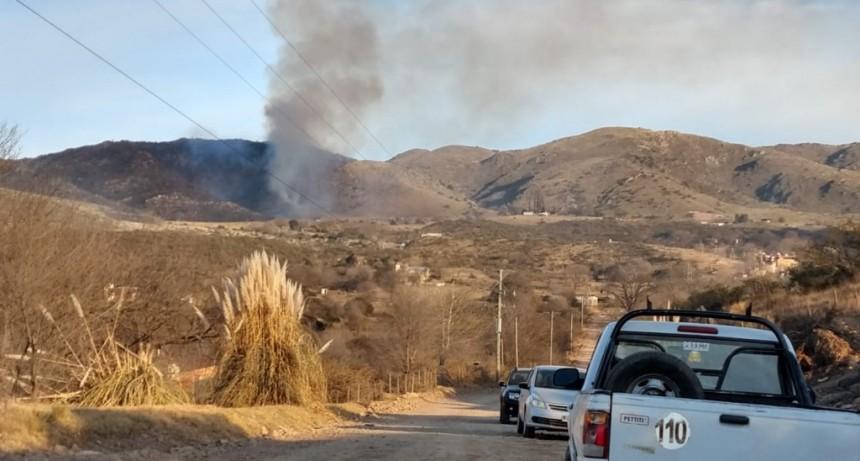 Extinguieron el incendio forestal en Estancia Grande y Potrero de los Funes