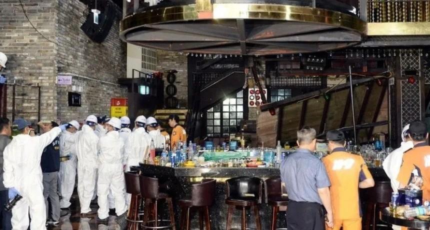 Se derrumbó balcón en un bar de Corea del Sur: 2 muertos y 16 heridos