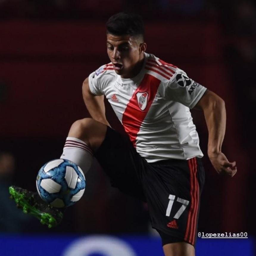 Elías López debutó oficialmente en River