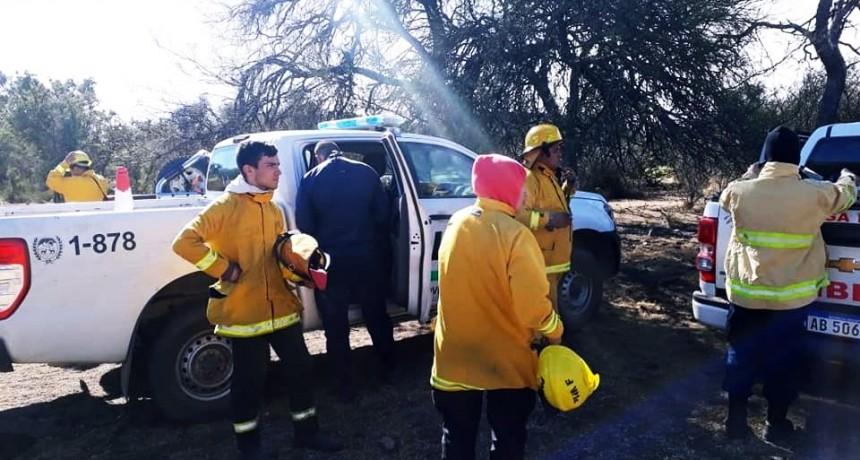 Controlaron el incendio forestal en la zona de Juan Llerena, en cercanías a El Morro