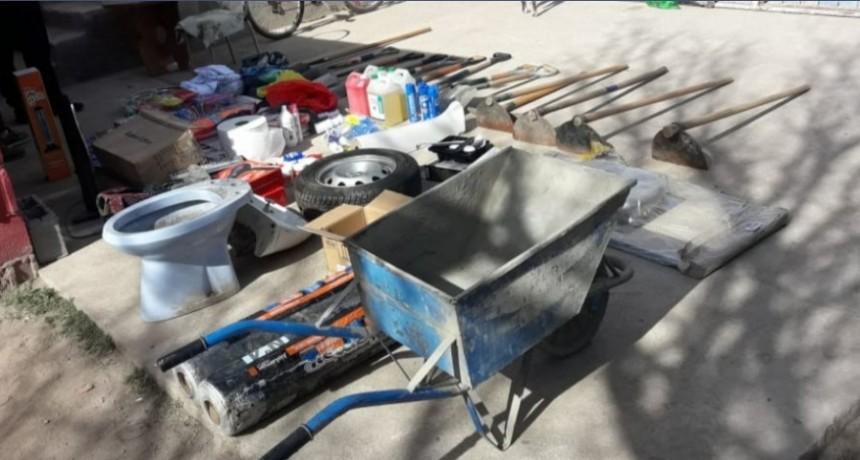 San Luis: policías de Investigaciones recuperaron bienes sustraídos de un Centro de Gestión Municipal