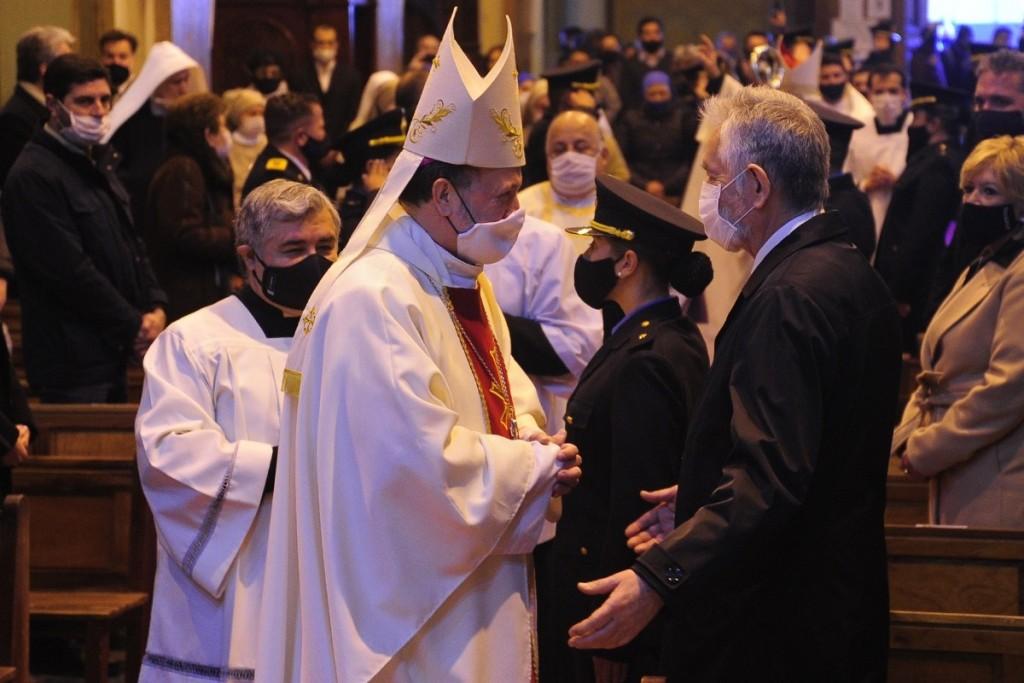 """""""Monseñor, le pedí al Cristo de la Quebrada que bendiga nuestra amistad y la amistad que nace entre usted y el pueblo de San Luis"""""""