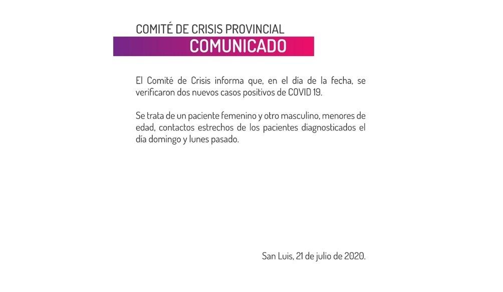 Confirmaron dos nuevos casos de coronavirus