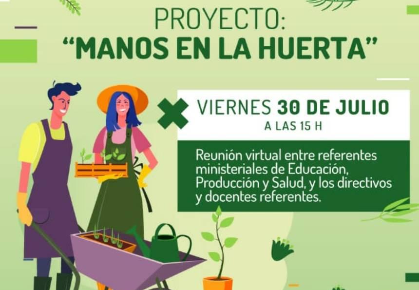 """Comienza el proyecto """"Manos en la Huerta"""" para escuelas de la provincia"""