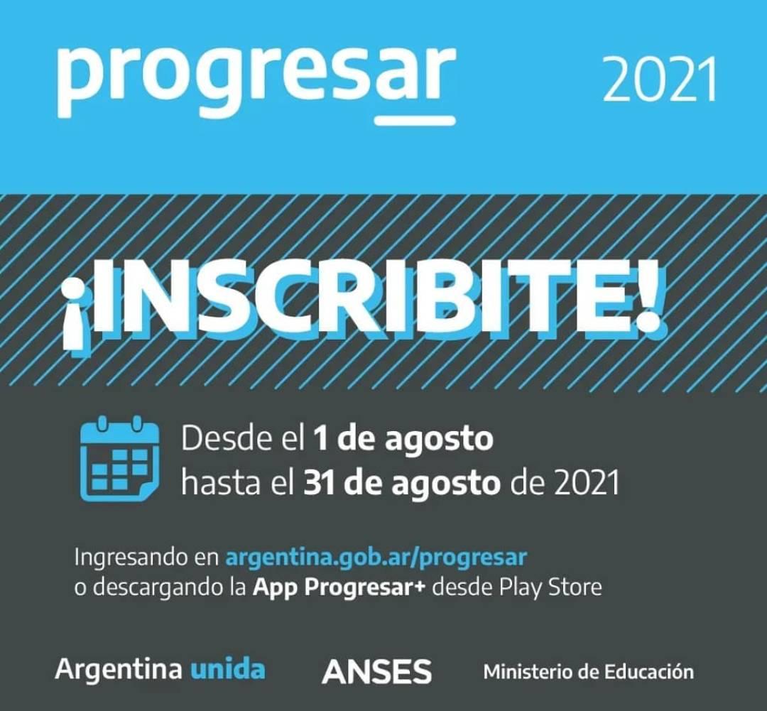 Desde 1º de Agosto  al 31 podes inscribirte a las becas Progresar