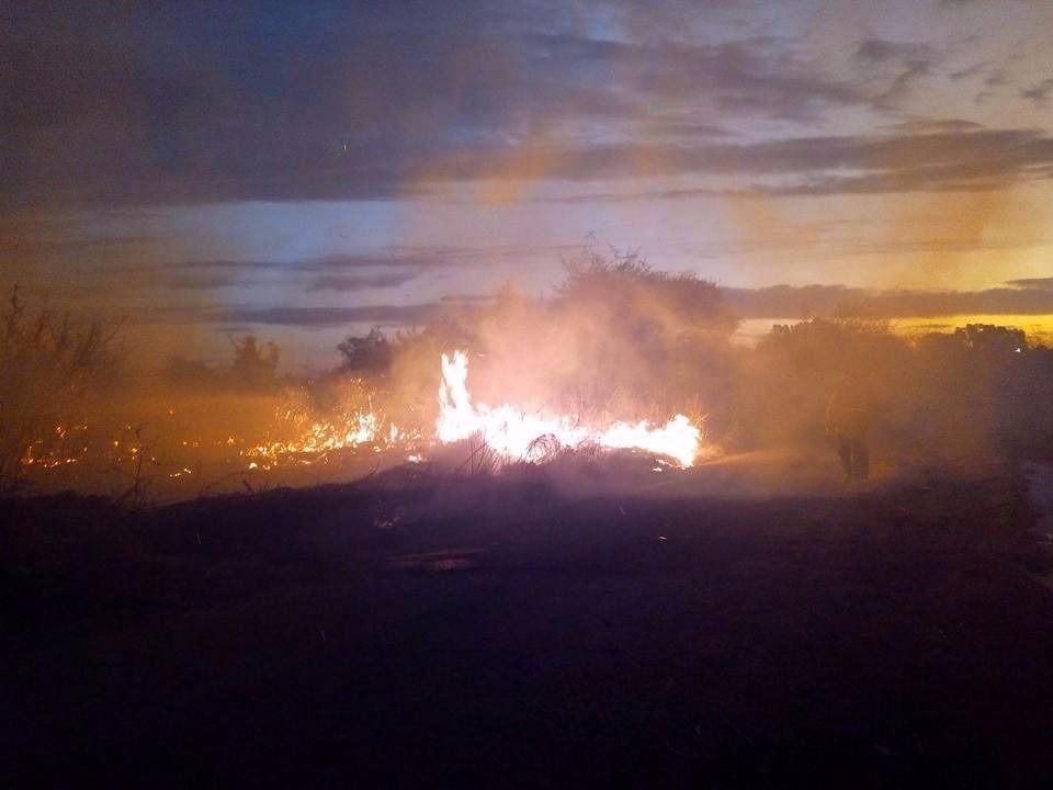 Bomberos controlaron focos de incendio en Tilisarao y Merlo