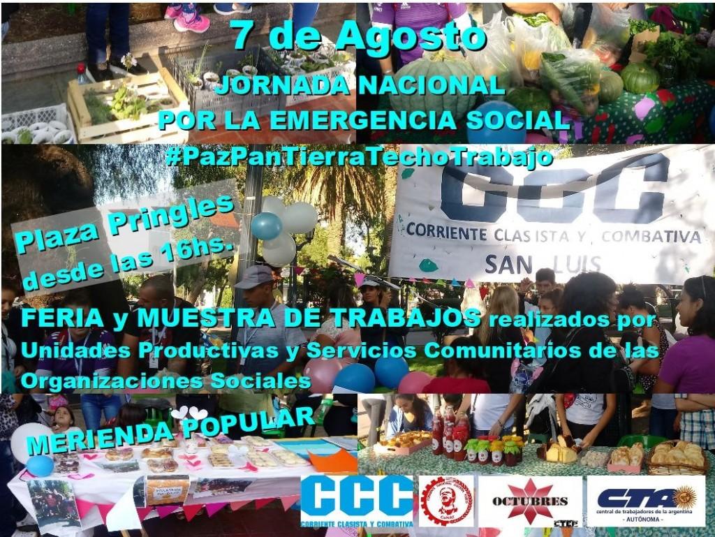 Se viene la Jornada Nacional por la Emergencia Social
