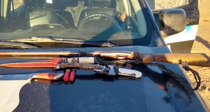 Caza furtiva: la Policía sorprendió a cazadores y secuestró armas de fuego