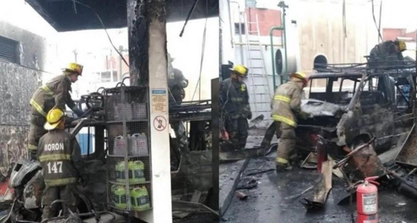 Pánico por explosión en una estación de GNC en Morón