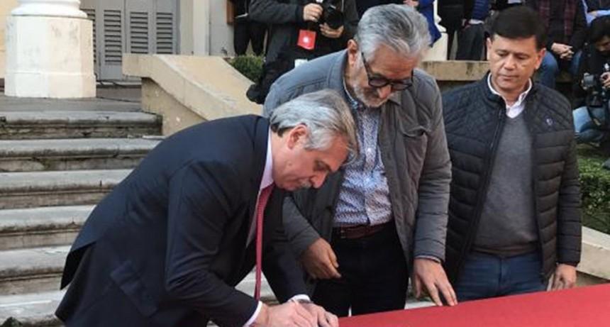 Alberto Fernández se comprometió con San Luis a cumplir con el pago de la deuda de Nación