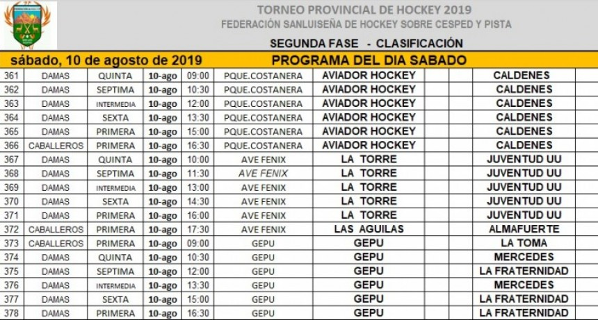 Comienza una nueva fecha del Hockey puntano