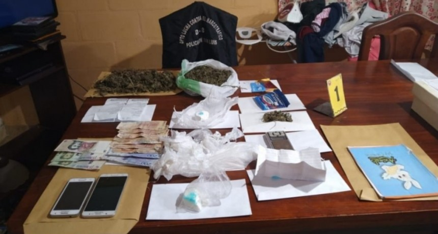 San Luis: policias decomisaron droga valuada en 244 mil pesos