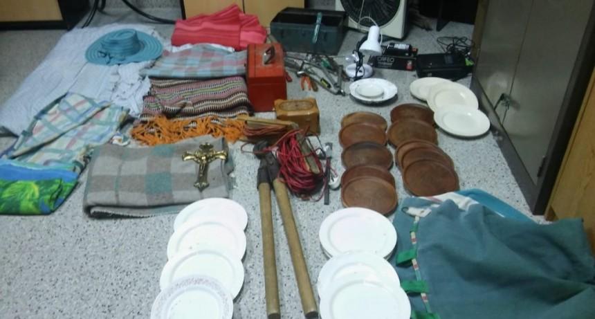 El Trapiche: Policías recuperaron elementos robados