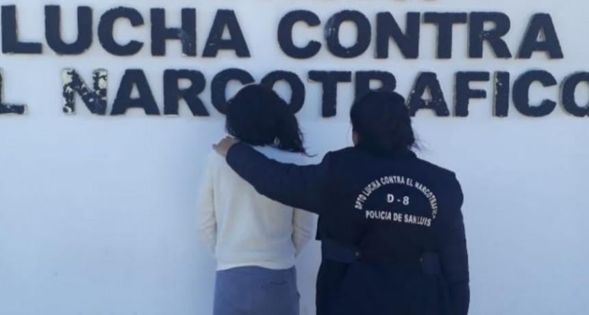 Villa Mercedes: Prisión preventiva para una mujer que fue detenida con droga valuada en 31 mil pesos
