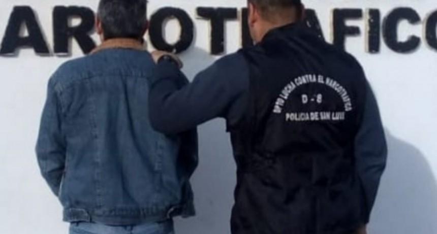 San Luis: enviaron a prisión a un hombre que comercializaba estupefacientes