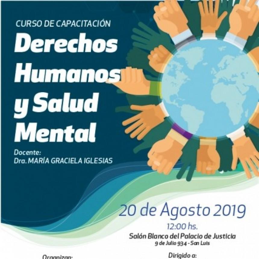 Realizarán una capacitación sobre Derechos Humanos y Salud Mental