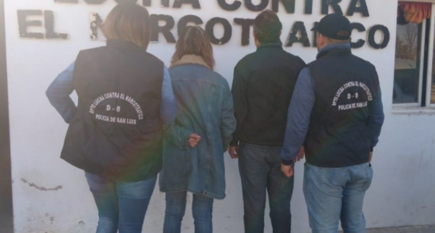San Luis: cárcel para dos detenidos por infracción a la Ley 23.737