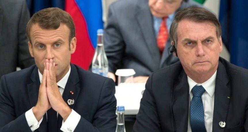 Emmanuel Macron acusó a Jair Bolsonaro de mentirle sobre el Amazonas y advirtió que Francia se opondrá al acuerdo con Mercosur