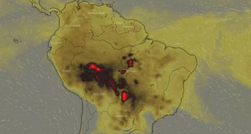 El humo del Amazonas ya está en la Argentina y se espera que este fin de semana llegue a Buenos Aires