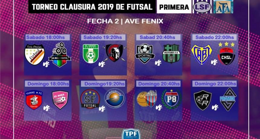 Futsal: Inicia la segunda fecha