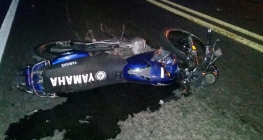 Accidente fatal: falleció un motociclista en la Ruta Nº 146