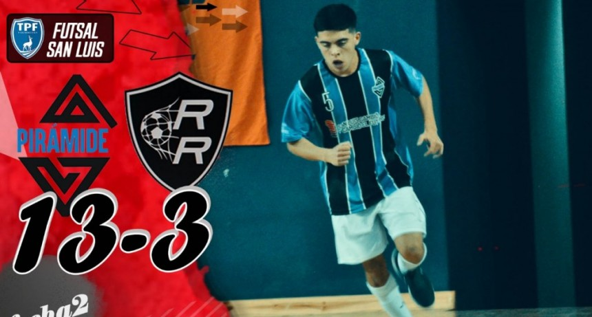 Con la goleada de Pirámide a Rompe Redes, finalizó la 2da fecha del Futsal