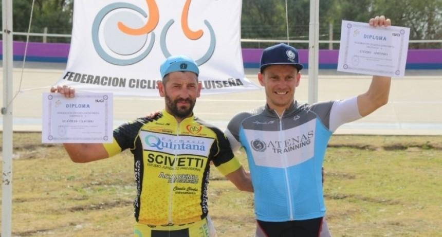 Tres puntanos y un cordobés fueron los ganadores del 1° Ómnium de ciclismo