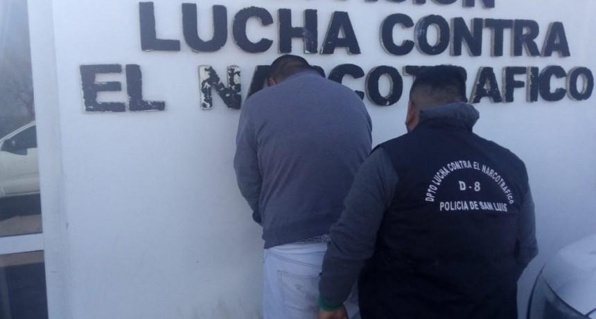 San Luis: fue a prisión un hombre que hacía delivery de droga en moto