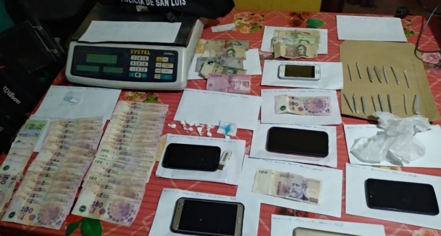 San Luis: policías anularon dos kioscos de drogas