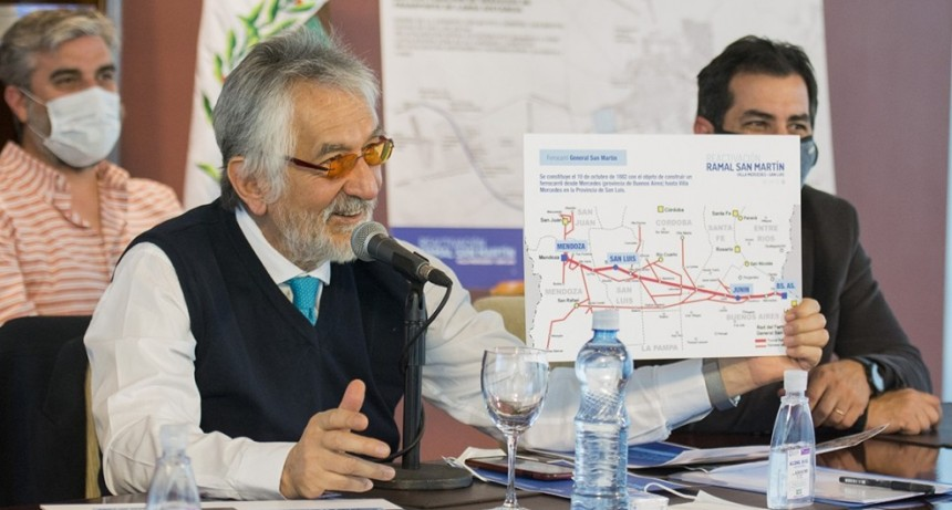 El gobernador le presentó a la Nación el proyecto de reactivación del Ramal San Martín en el tramo San Luis-Villa Mercedes