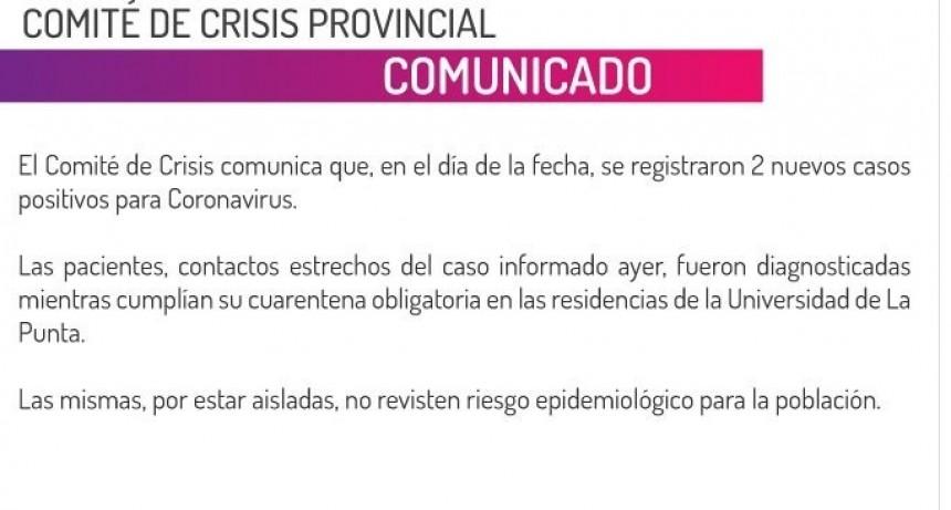 Detectaron dos nuevos casos positivos de coronavirus en San Luis