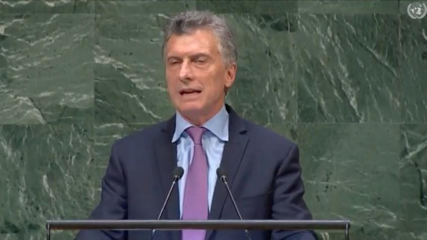 Macri envió un mensaje a los argentinos en el discurso ante la Asamblea General de la ONU