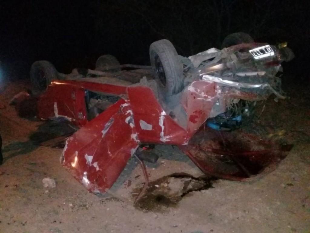 San Luis: un auto volcó en la Ruta del Portezuelo