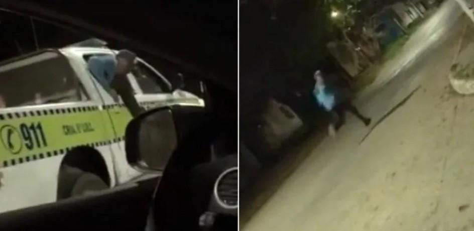Aprovechó descuido de los policías y escapó por la ventanilla del patrullero