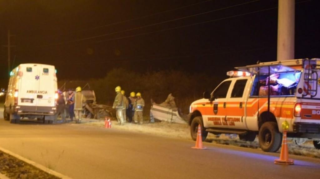 Merlo: una camioneta chocó contra un poste de luz camino a Santa Rosa