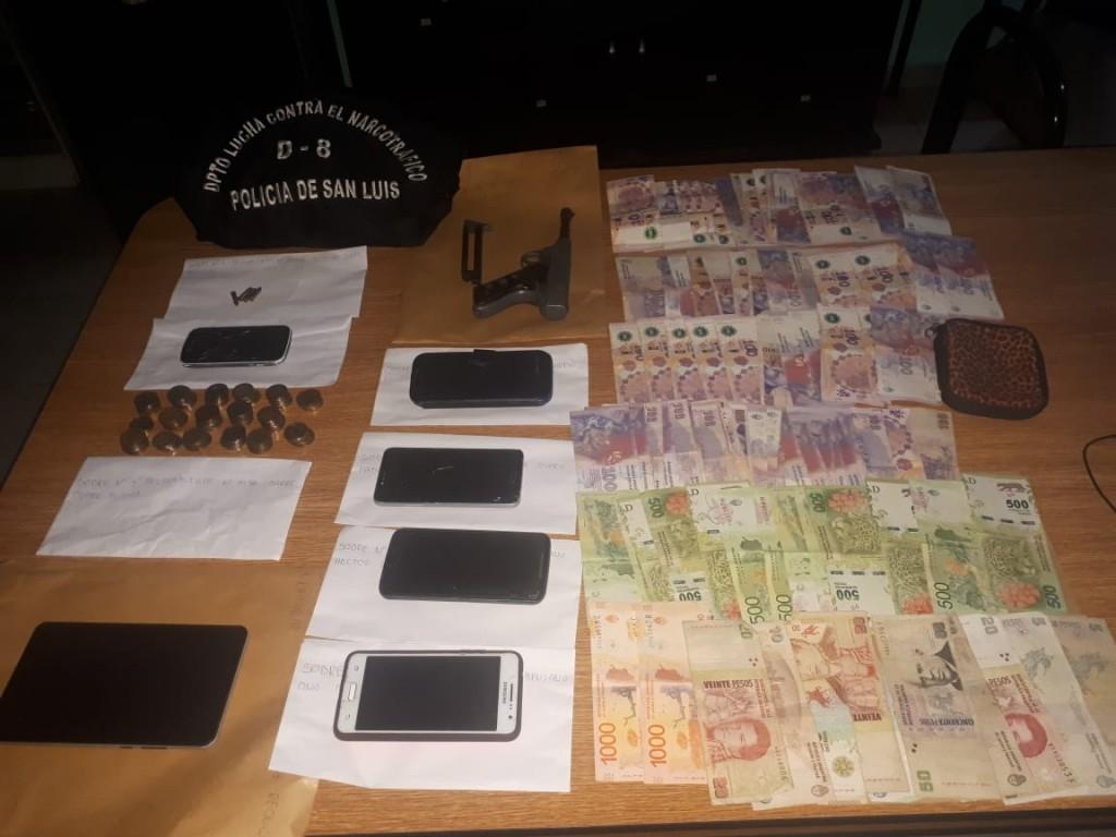 San Luis: anularon 11 kioscos de droga y detuvieron a 7 personas